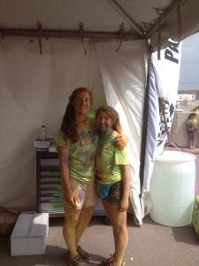 Ang and I volunteering at Colour me RAD.
